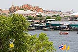 View across the river from Wat Arun - Click for larger image