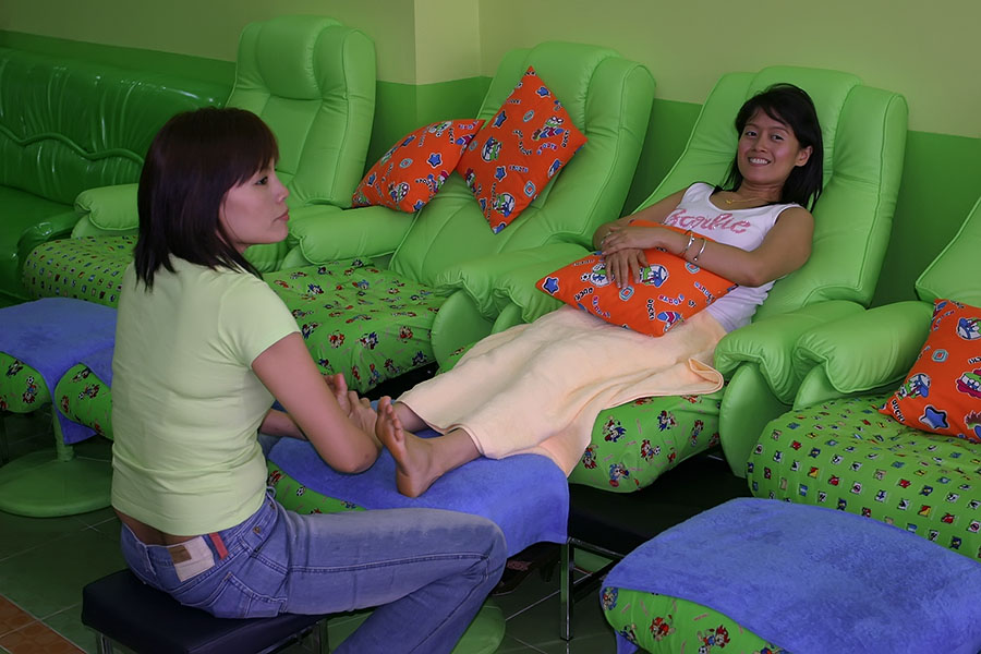 Foot massage is particularly popular with ethnic Chinese visitors to Thailand