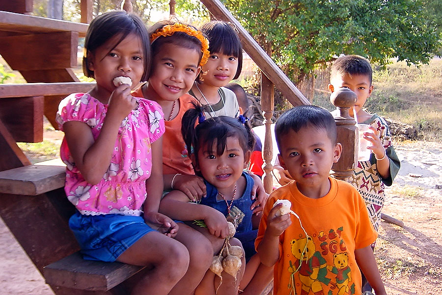 Children in Isaan, the poorest region of Thailand