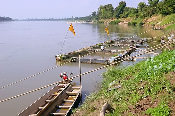 The Mekong in North-Eastern Thailand forms part of the border between Thailand and Laos