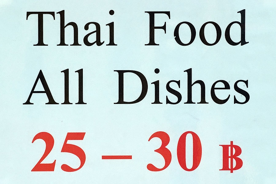 Lots of cheap food is available in Thailand