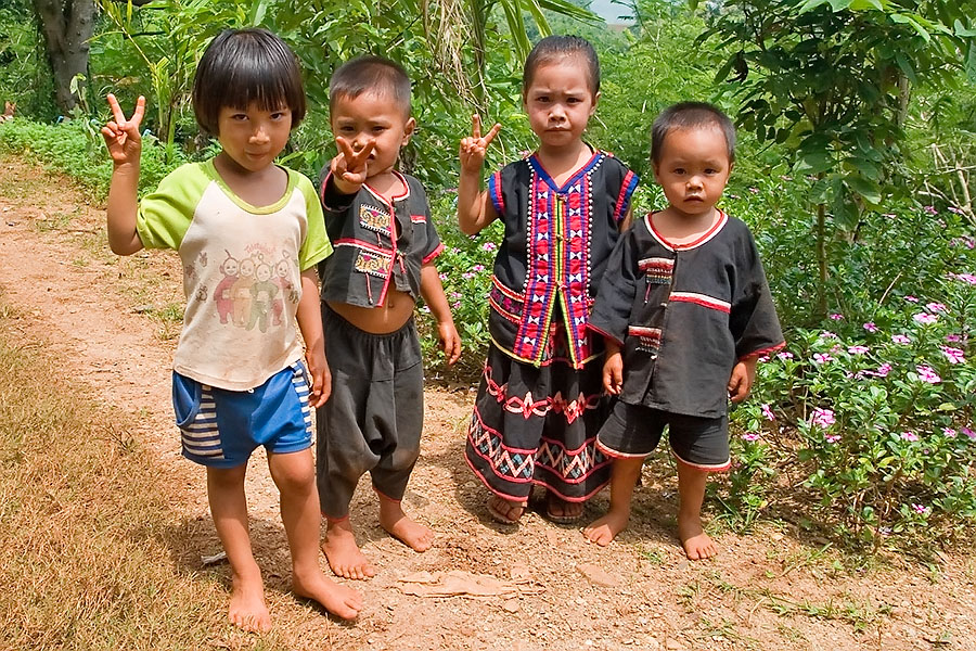 Hill tribe children, Chiang Rai