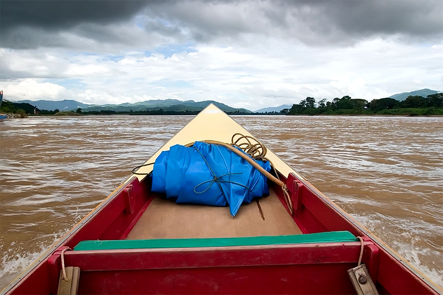 The boat across the Mekong to Laos
