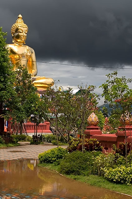 Black clouds and blue skies, Chiang Rai