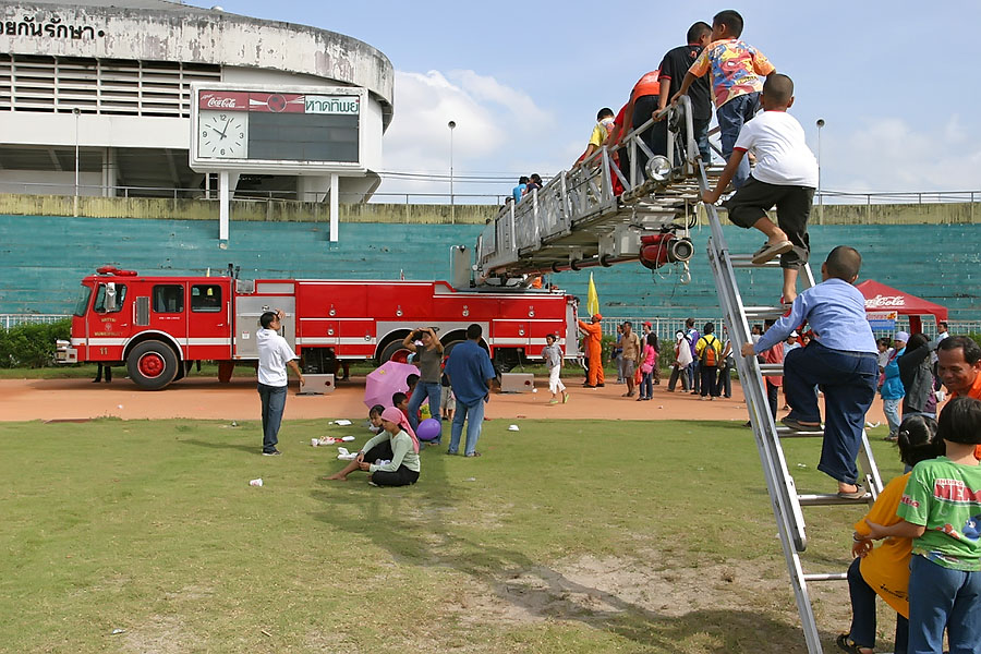 Playing Firefighters On Childrens' Day