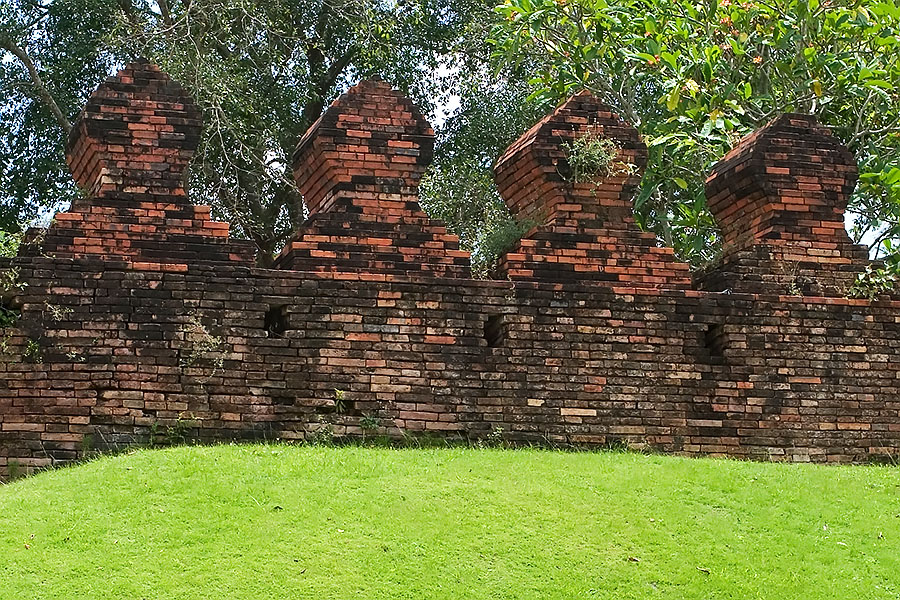 Part of the old city wall that used to completely enclose Nakhon Sri Thammarat