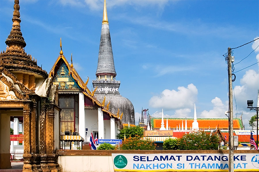 Wat Phrathat is a popular destination for visiting Malaysians