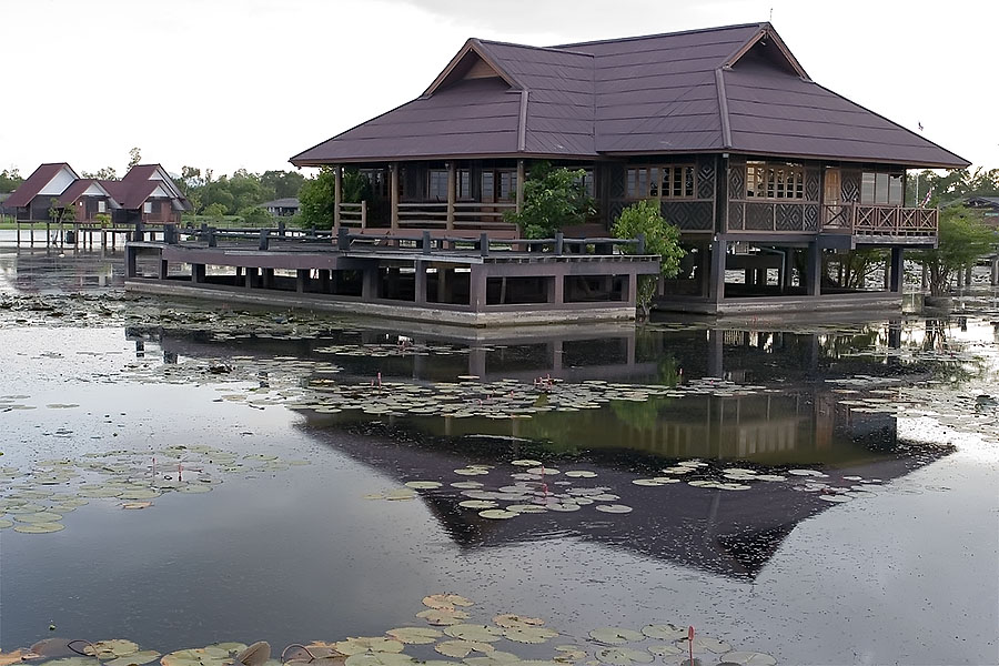 Accommodation at Thale Noi, Phattalung province, Thailand