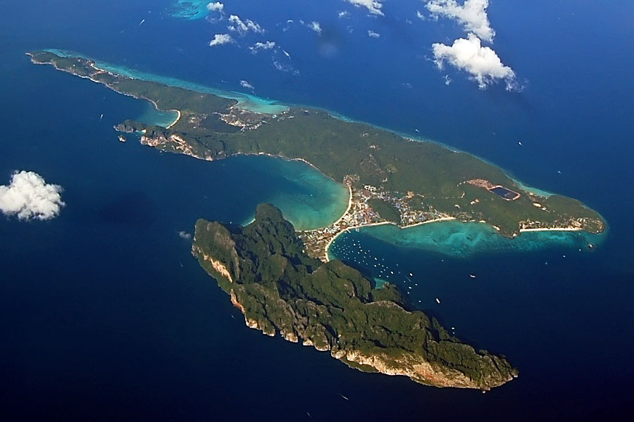 Phi Phi Island from the air