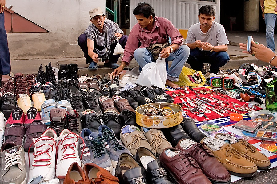 Second hand shoes at Hat Yai Plaza, Hat Yai