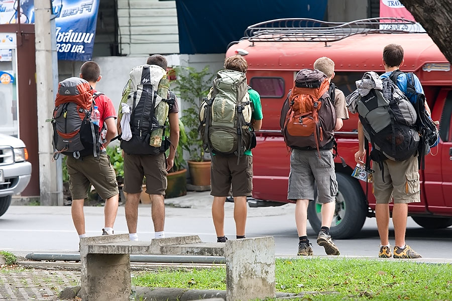 Backpackers in Chiang Mai