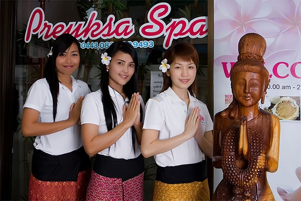 Toy, Max and Yo Yoo at Preuksa Spa, Hat Yai