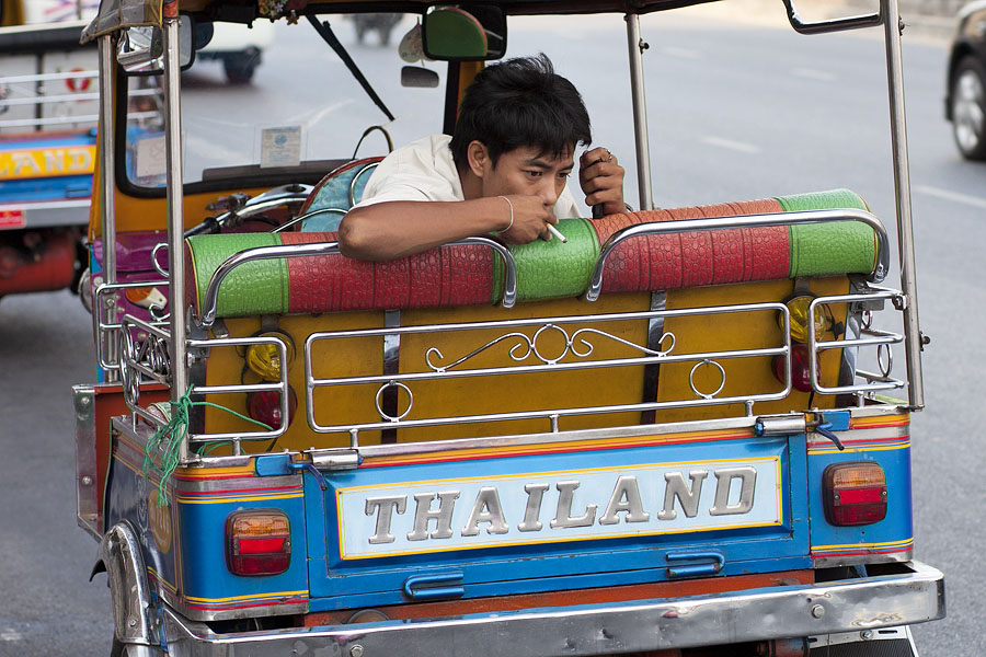Some Bangkok tuk-tuk drivers are very pleasant people, but some aren't
