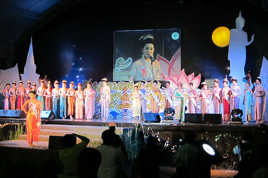 A Loy Gratong Day Beauty Contest, Thailand