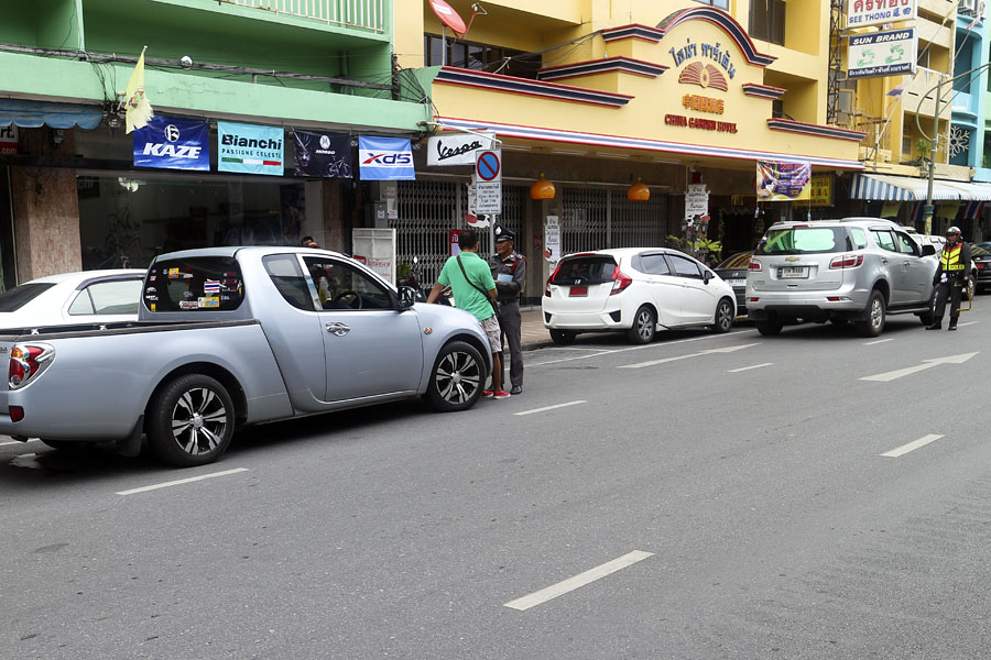 Police taking action against double parking