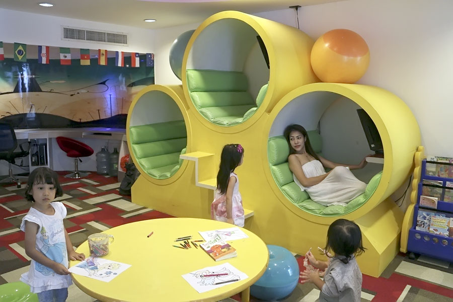 Kids' Club computer pods at the Amari Garden Hotel, Pattaya