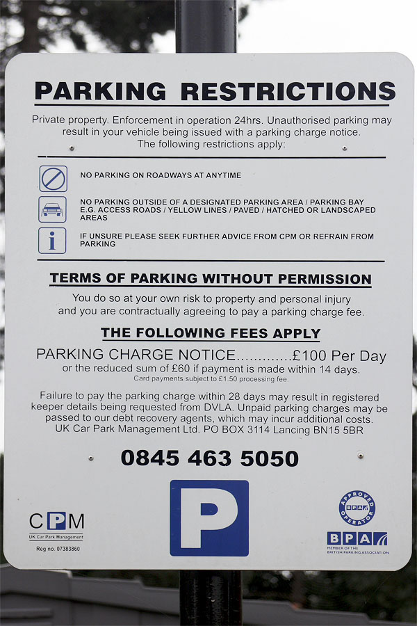 Parking restrictions in the UK