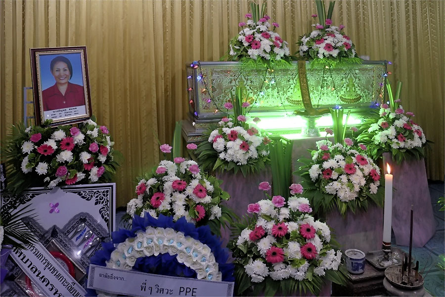 The casket at the temple