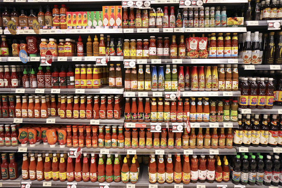 TOPS supermarket, Thailand - what brand of chili sauce did you want?