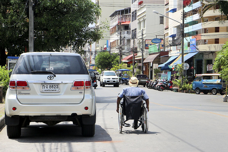 Wheelchair user in Thailand