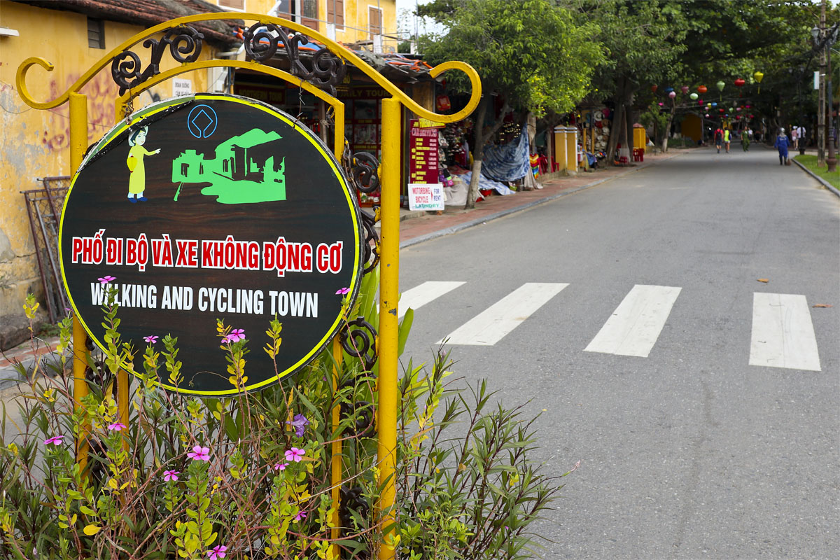 Walking and cycling town, Hoi An, Vietnam
