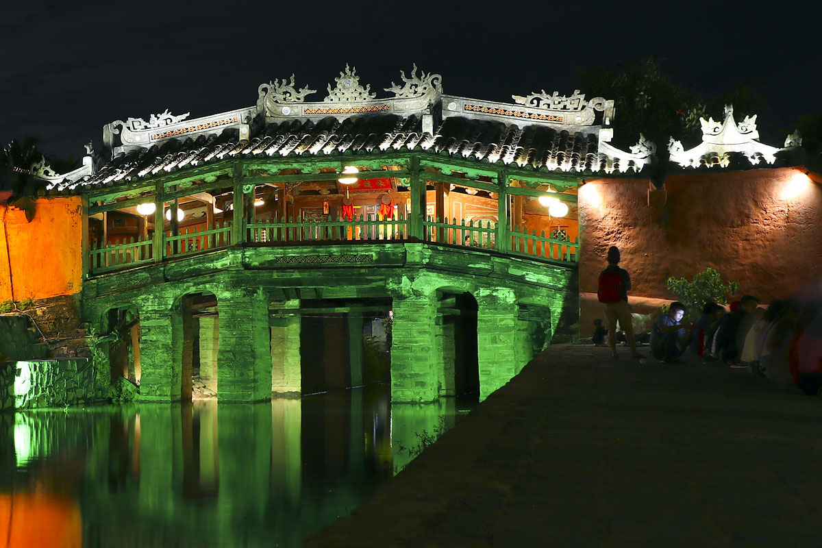 The famous Japanese covered bridge in Hoi An, Vietnam