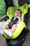 Our daughter in her car seat - Click for larger image