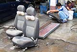 Repairing a flood damaged car - Click for larger image