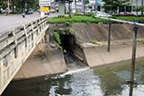 Water from underground tunnel leading to canal - Click for larger image