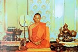 The King while ordained as a Buddhist monk - Click for larger image
