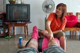 Getting my feet massaged after doing lots of walking in Sukothai - Click for larger image