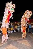 Chinese vegetarian festival lion dancers - Click for larger image