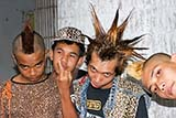 Young Thai punks, Hat Yai, Thailand - Click for larger image
